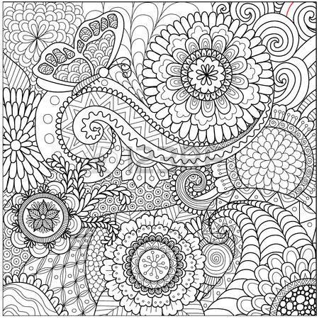 56391327-flores-y-mandalas-para-colorear-para-los-adultos.jpg (450 ...