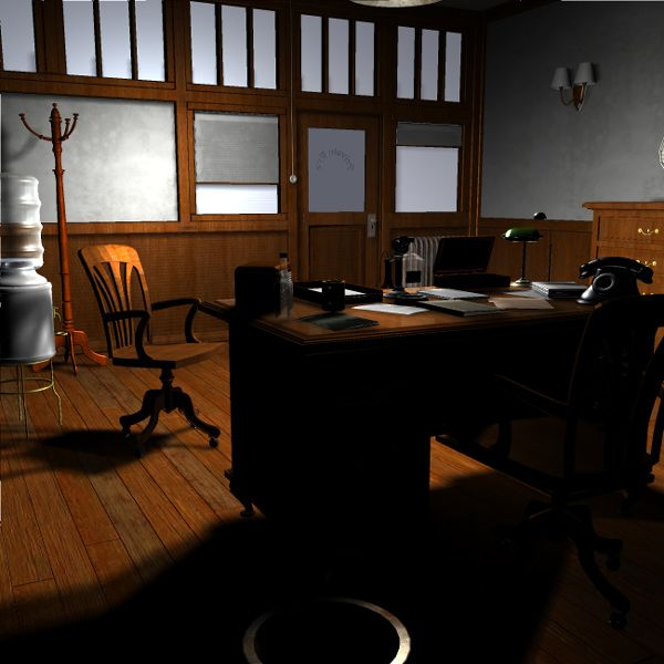 Home Office Decor For Private Impression: Film Noir Detective Office (for Poser