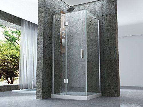 Box doccia con porta battente esterno e lato fisso in
