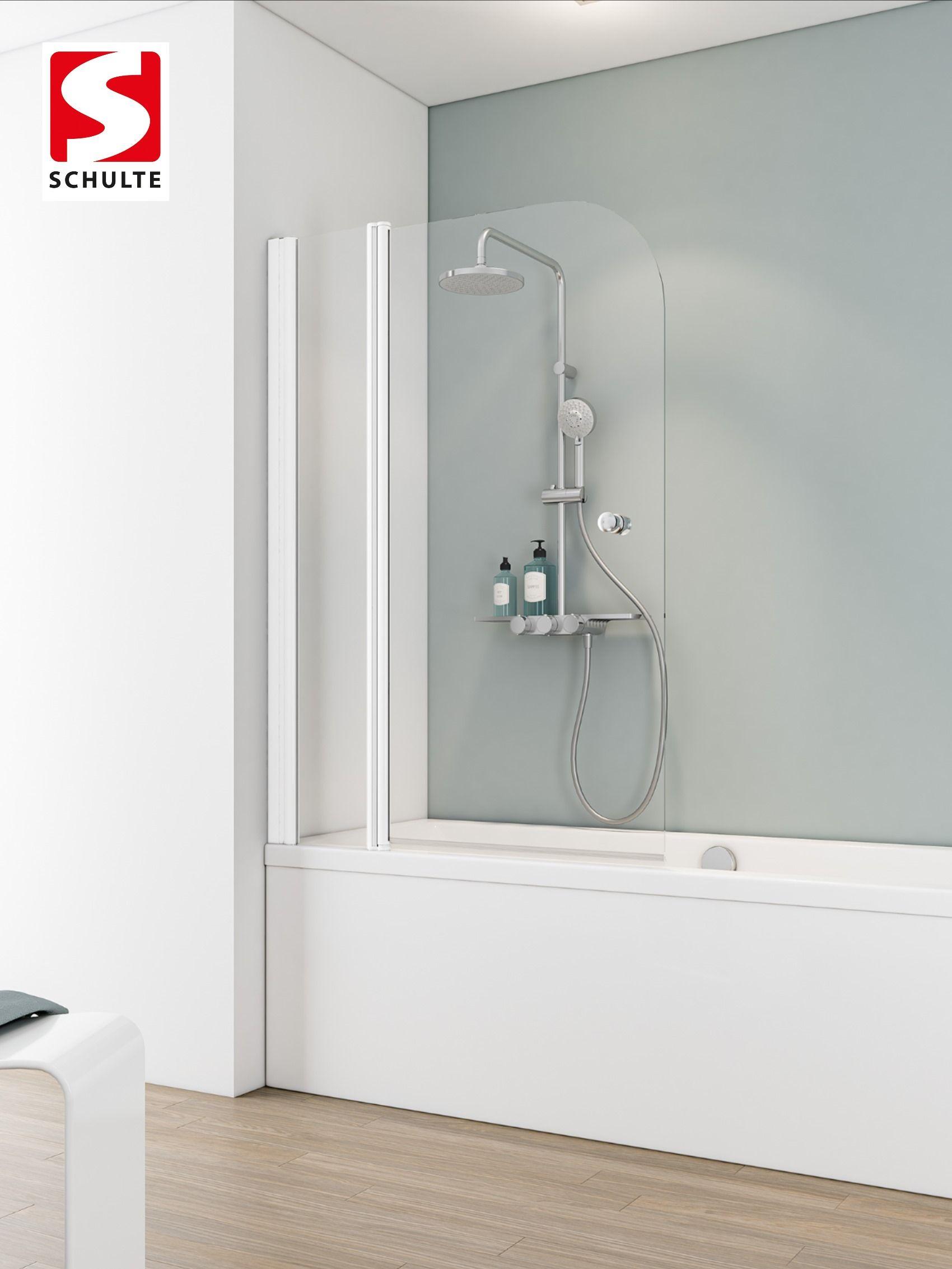 Schulte Wannenaufsatz Badewannenfaltwand Komfort Rahmenlos 2 Teilig Aluprofil Garant Badewanne Glaswand Wand Duschkabine