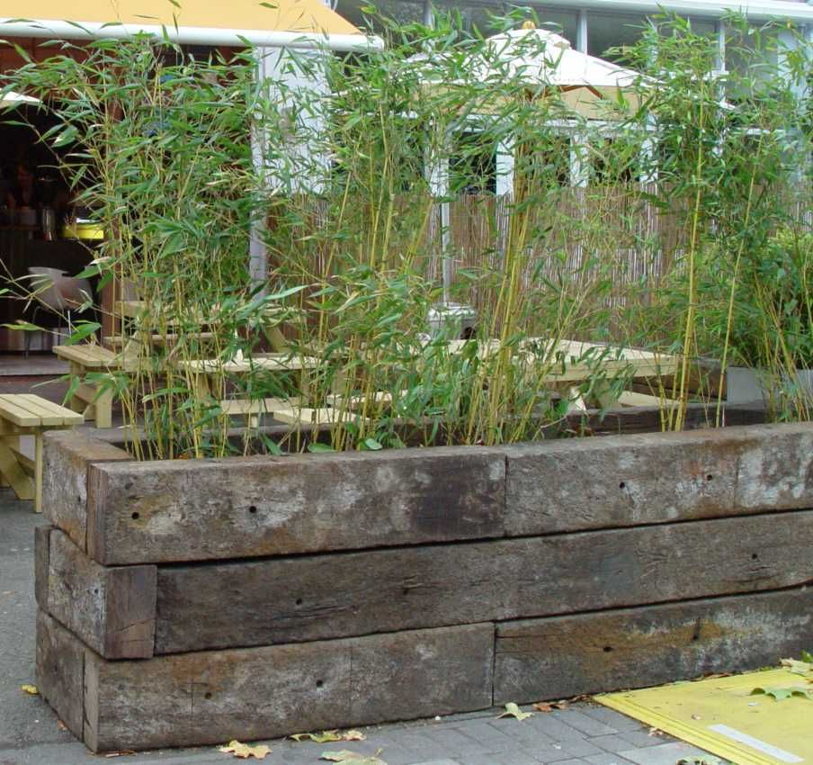 Using Old Railroad Ties For Raised Garden Bed