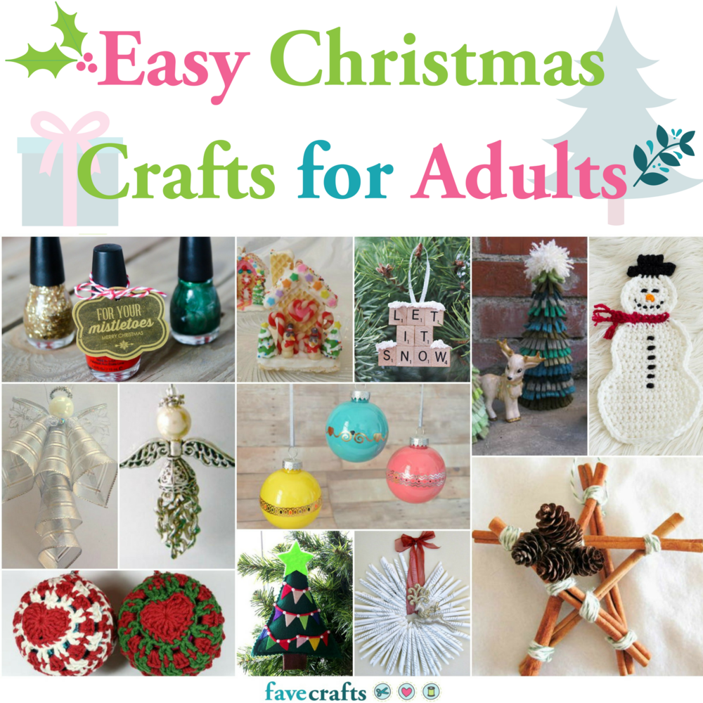 46++ Simple christmas crafts for adults info