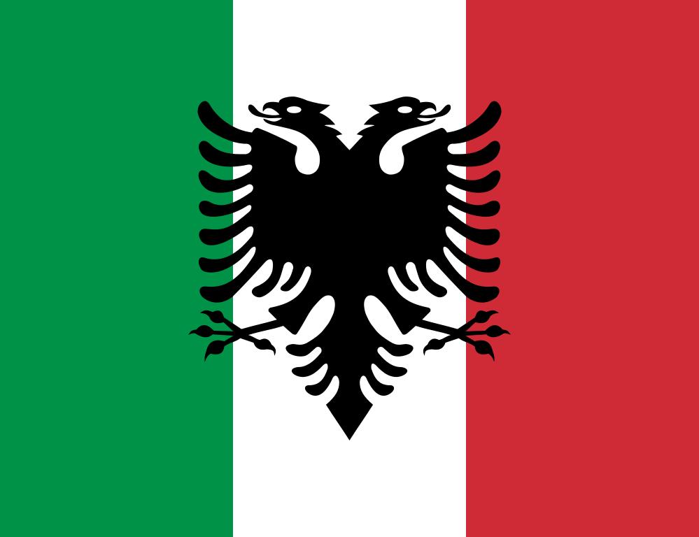 Flag Of The Italian Arberesh Albanians Albania Flag Albanian Flag Coat Of Arms