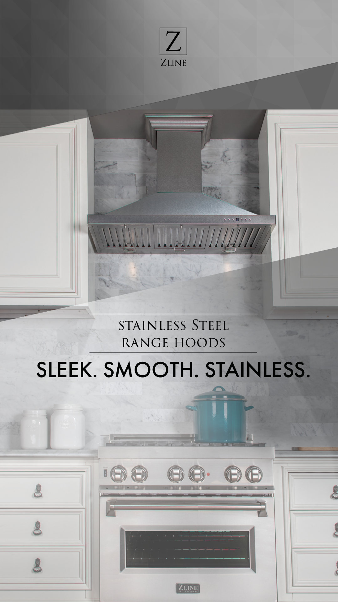 Sleek Smooth And Stainless Stainless Steel Range Stainless