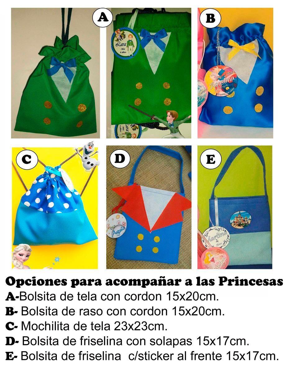 673c15856 Bolsitas Princesas Souvenir Cumpleaños X10u - $ 180,00 en MercadoLibre