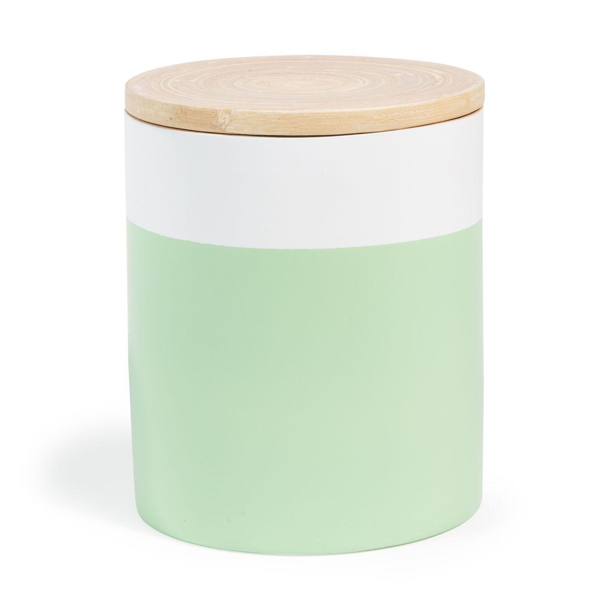 Konservenglas Scandinave, Bambus grün, H 16 cm