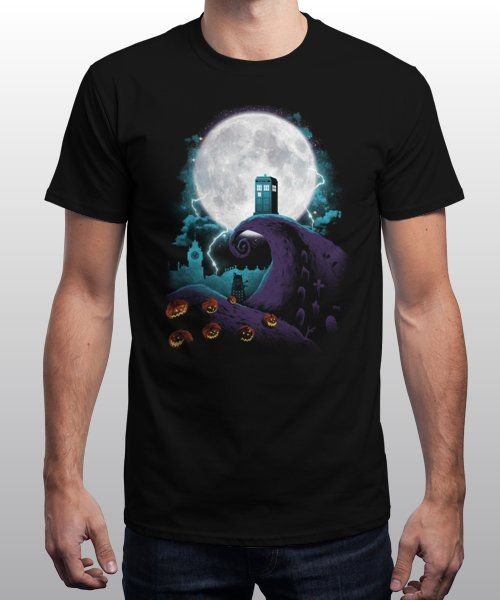 """""""Tardis and Nightmares"""" is today's £9/€11/$12 tee for 24 hours only on Pin this… 