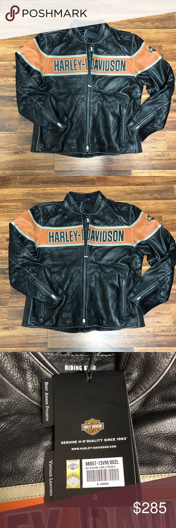 Harley Davidson Victory Lane Leather Jacket NWT Leather