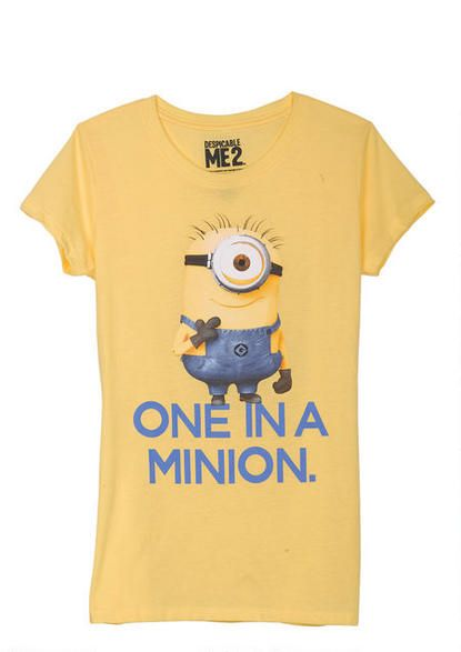Despicable Me Movie Minion Talk Junior T Shirt