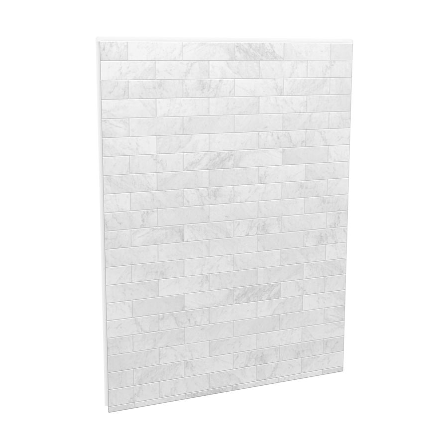 Maax Utile 59 75 In X 80 875 In Marble Carrara Shower Surround Back Wall Panel Lowes Com Marble Shower Walls Shower Wall Panels Shower Walls Surrounds