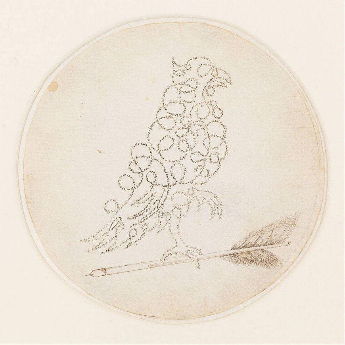 """Parrot Standing on a Writing Pen"", c. 1600/1700, J. Suerbants, Museum Boijmans Van Beuningen"