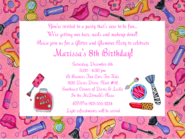 Girl Idea Little Spa Party Invitations – Party Invitations for Girls