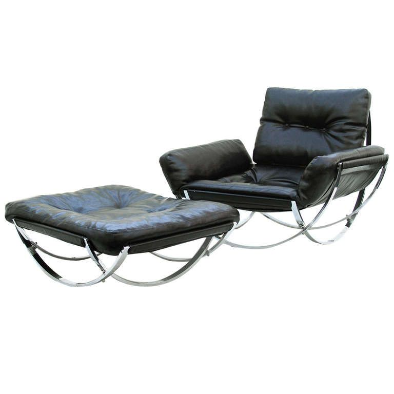Unique Lounge Chairs stendig mid-century modern leather lounge chair and ottoman