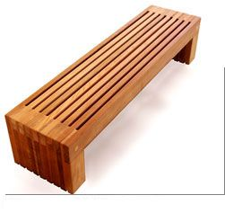 wood outdoor bench  verde que te quiero verde  Pinterest  의자, 부엌 수납장 ...