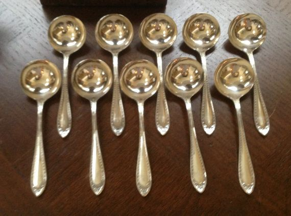 Set of 10 Antique Silver Plated Soup / by 4HollyLaneAntiques