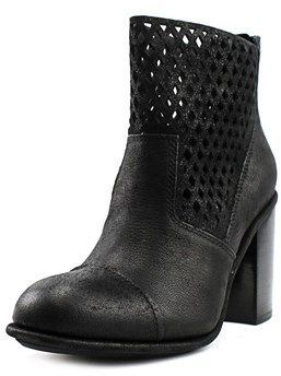 Calvin Klein Jeans Melina Women Round Toe Leather Black Mid Calf Boot.  #midcalfboots