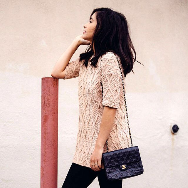 This textured sweater is super comfy and warm – not to mention totally on trend with that whole 60's mod thing!