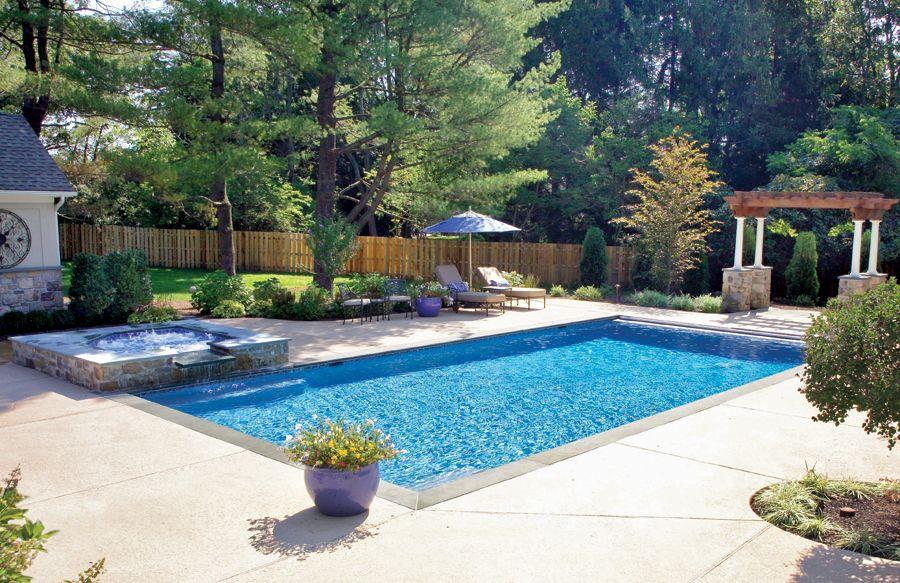 Geometric Pool And Spa Designs Photos Swimming Pools Backyard