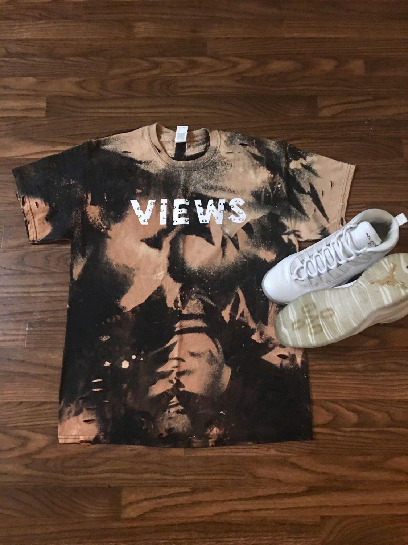 f515a130a244 Drake Views Tour Concert Merch Custom Bleached T Shirt Views October s Very  Own OVO Summer Sixteen Yeezus Drake Revenge