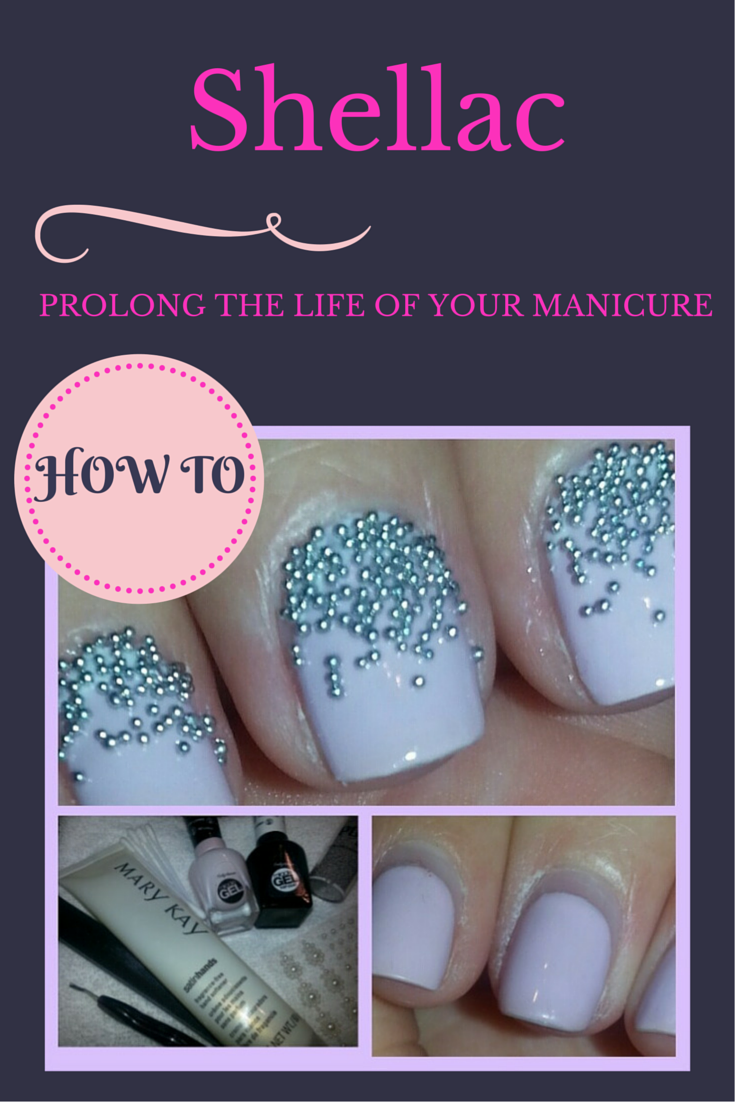 How to prolong the life of your shellac manicure and save you money- click on link for step by step tutorial