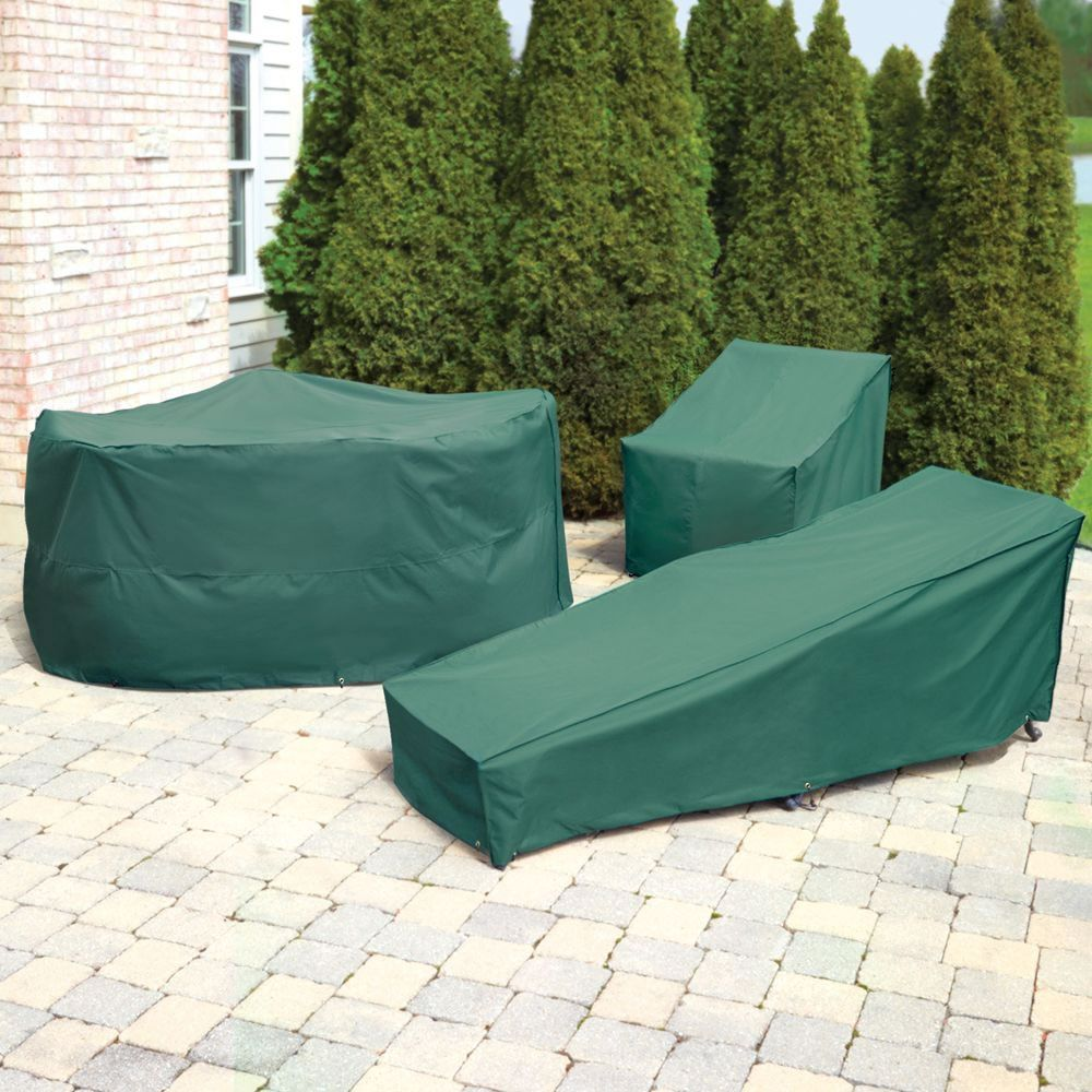 The Better Outdoor Furniture Covers Round Table And Chairs Cover Hammacher Schlemmer