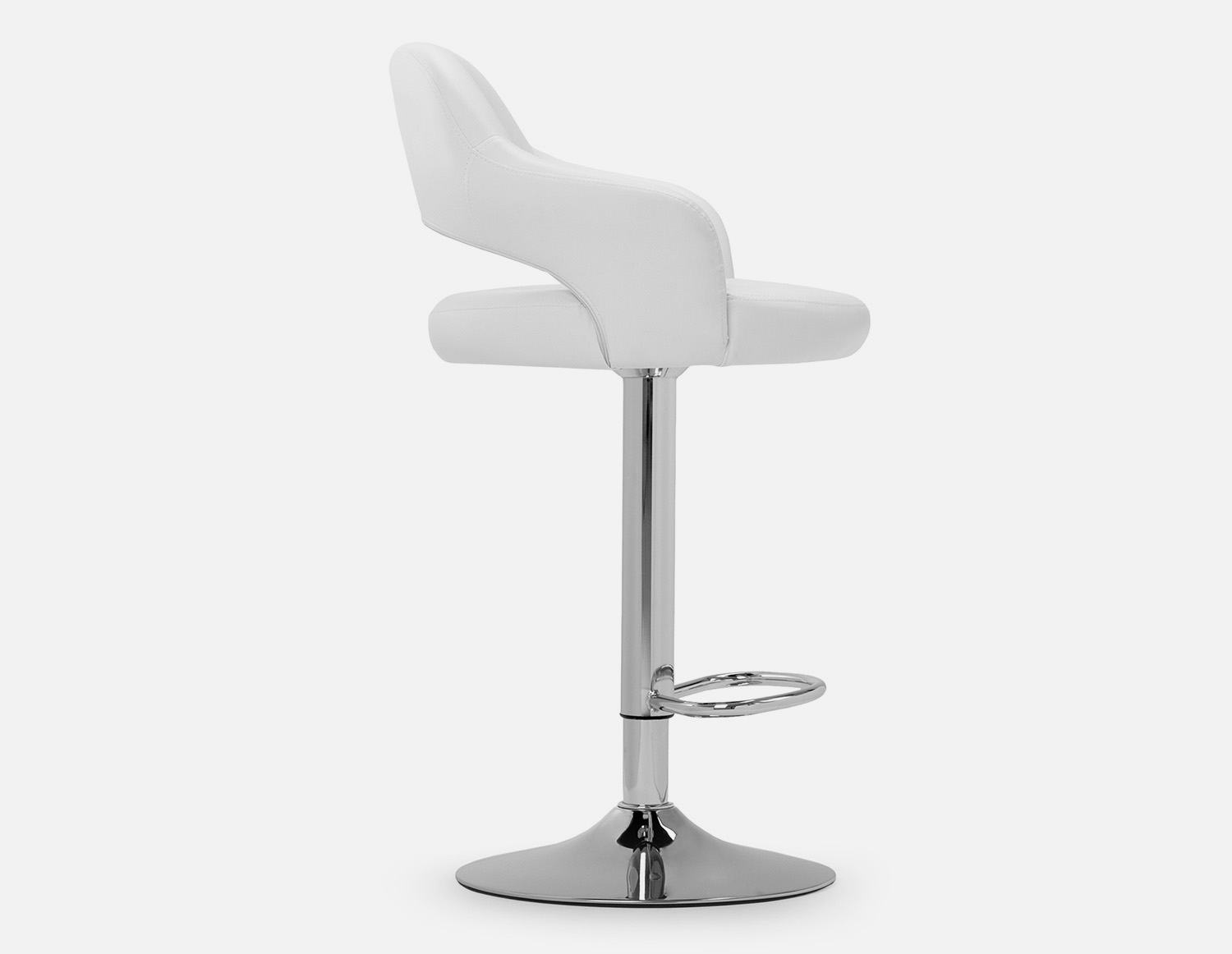 Astonishing Riko White Adjustable Stool 87Cm To 109Cm Products In 2019 Caraccident5 Cool Chair Designs And Ideas Caraccident5Info