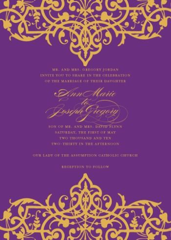 5 Bright Wedding Invitations That Would Be Perfect For A