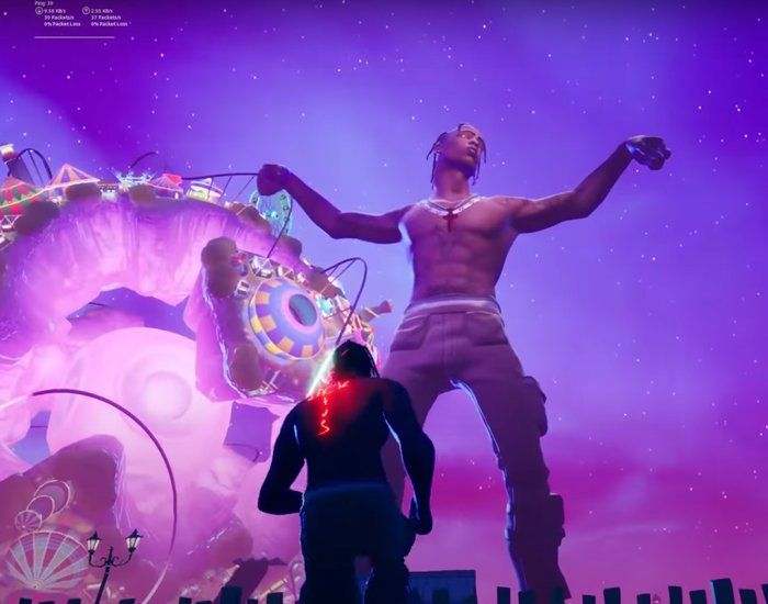 Travis Scott S Astronomical Concert On Fortnite Attracts More Than 12 Million People In 2020 Fortnite Concert Rapper Travis Scott
