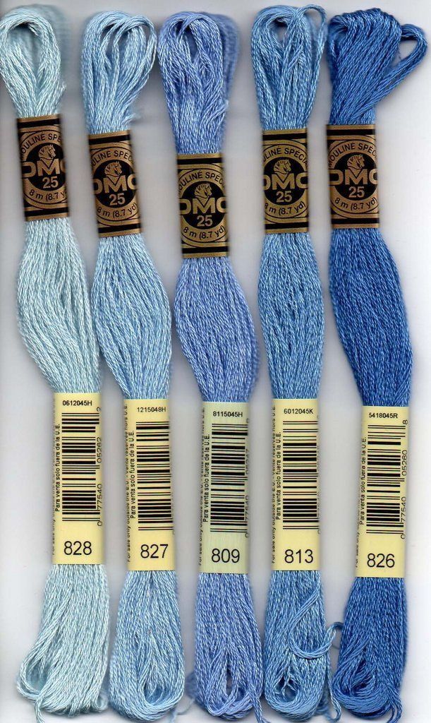DMC embroidery floss - 800 series #embroideryfloss