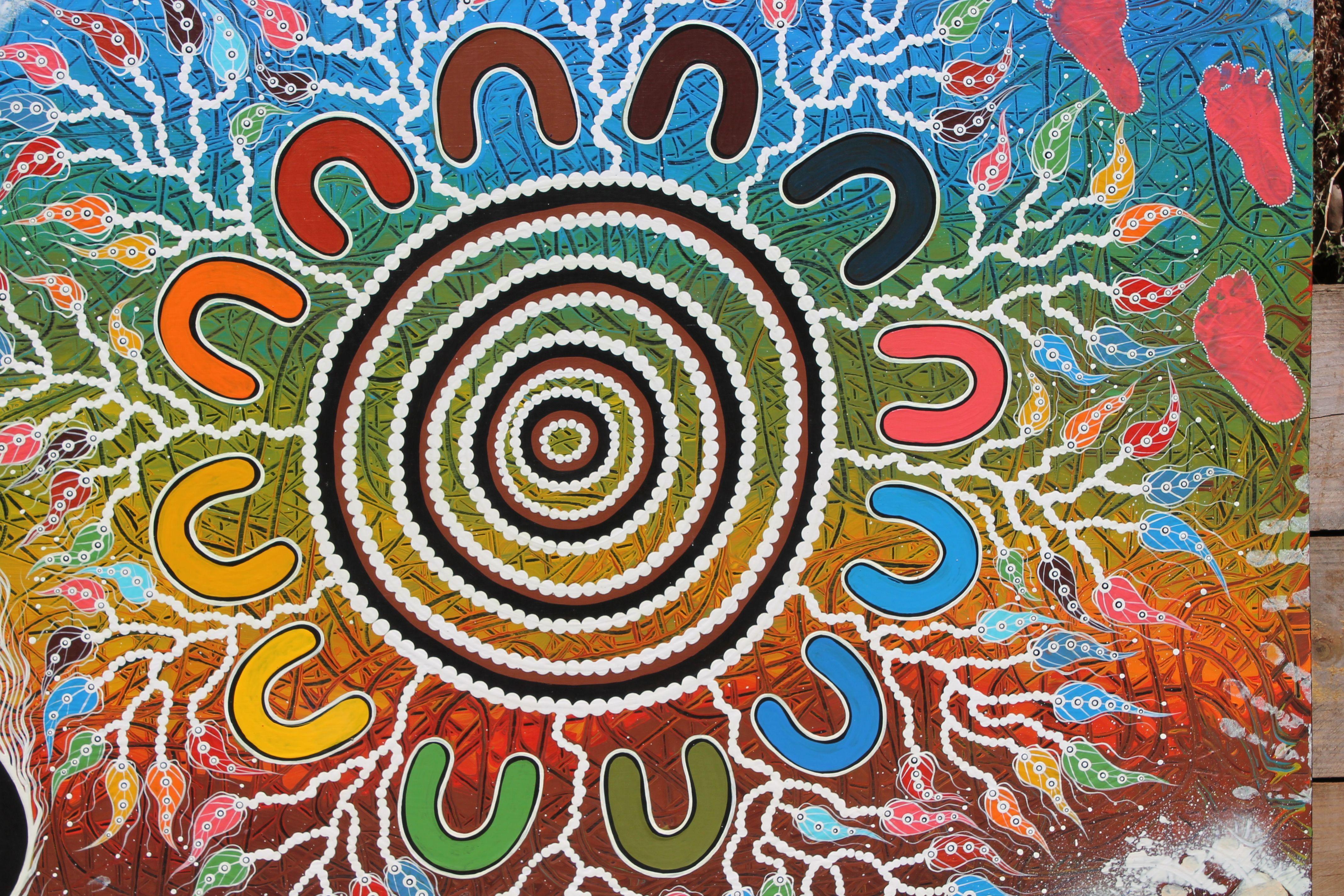 Aboriginal colours street art colours art