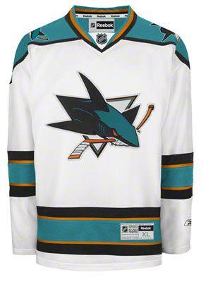 d7aaca3c2 San Jose Sharks White Premier NHL Jersey