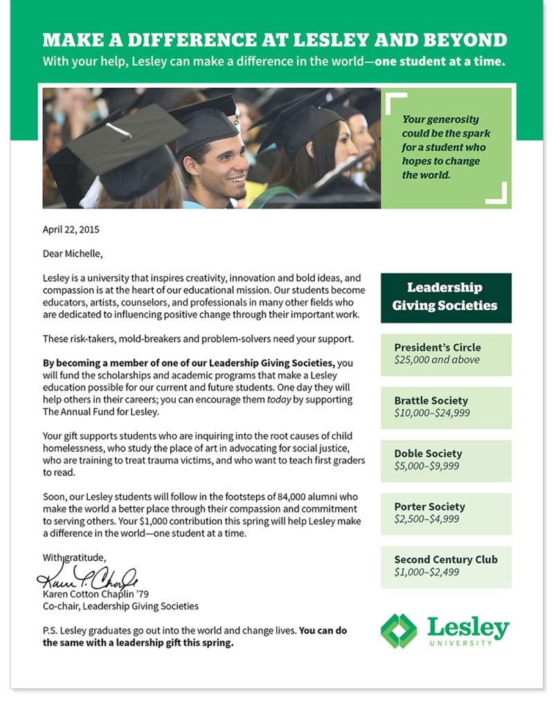 Academic Appeal Letter Pleasing First Letter Size Appeal In A Two Part Series Annual Giving .