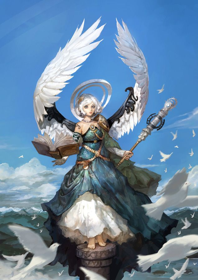 Fantasy Art Blue Angel
