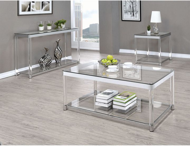 Coaster Living Room Glass Top Occasional Table Sofa Table Design Coffee Table Furniture