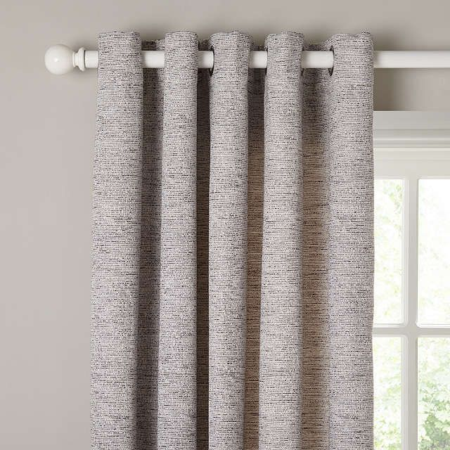 BuyJohn Lewis Boucle Texture Lined Eyelet Curtains Grey W X - John lewis curtains grey