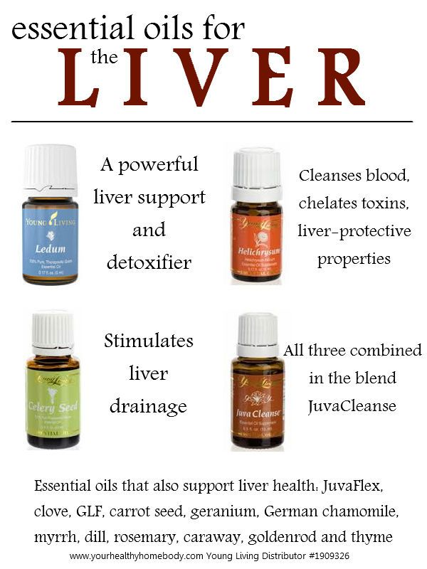 Essential oils for liver health