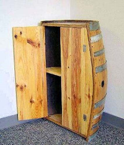 Oak Barrel Shelf Or Coffee Table Handcrafted With Reclaimed Wine Barrel