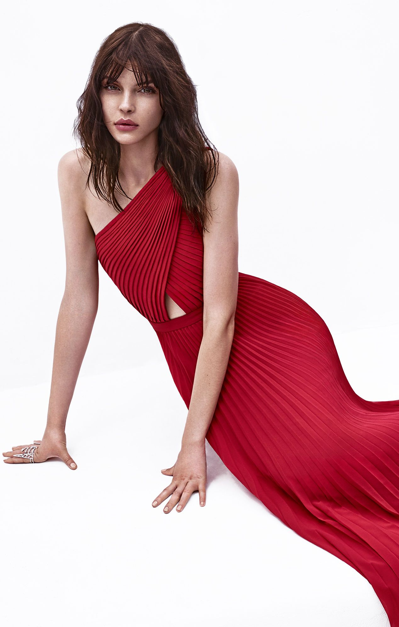 Gwendolyn One-Shoulder Pleated Gown bcbg | Looks | Pinterest | Gowns ...