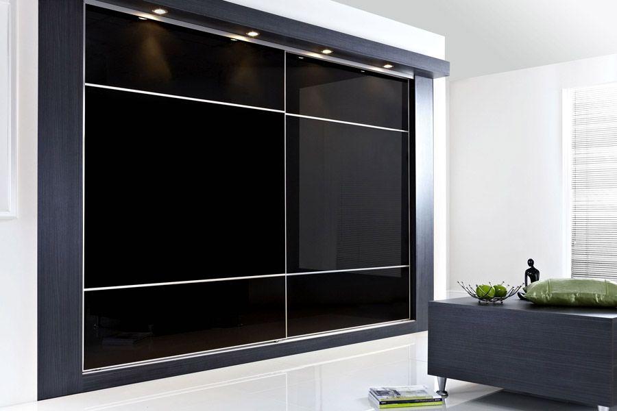 Best Super Fine Satin Silver Frame With Black Glass Design 640 x 480