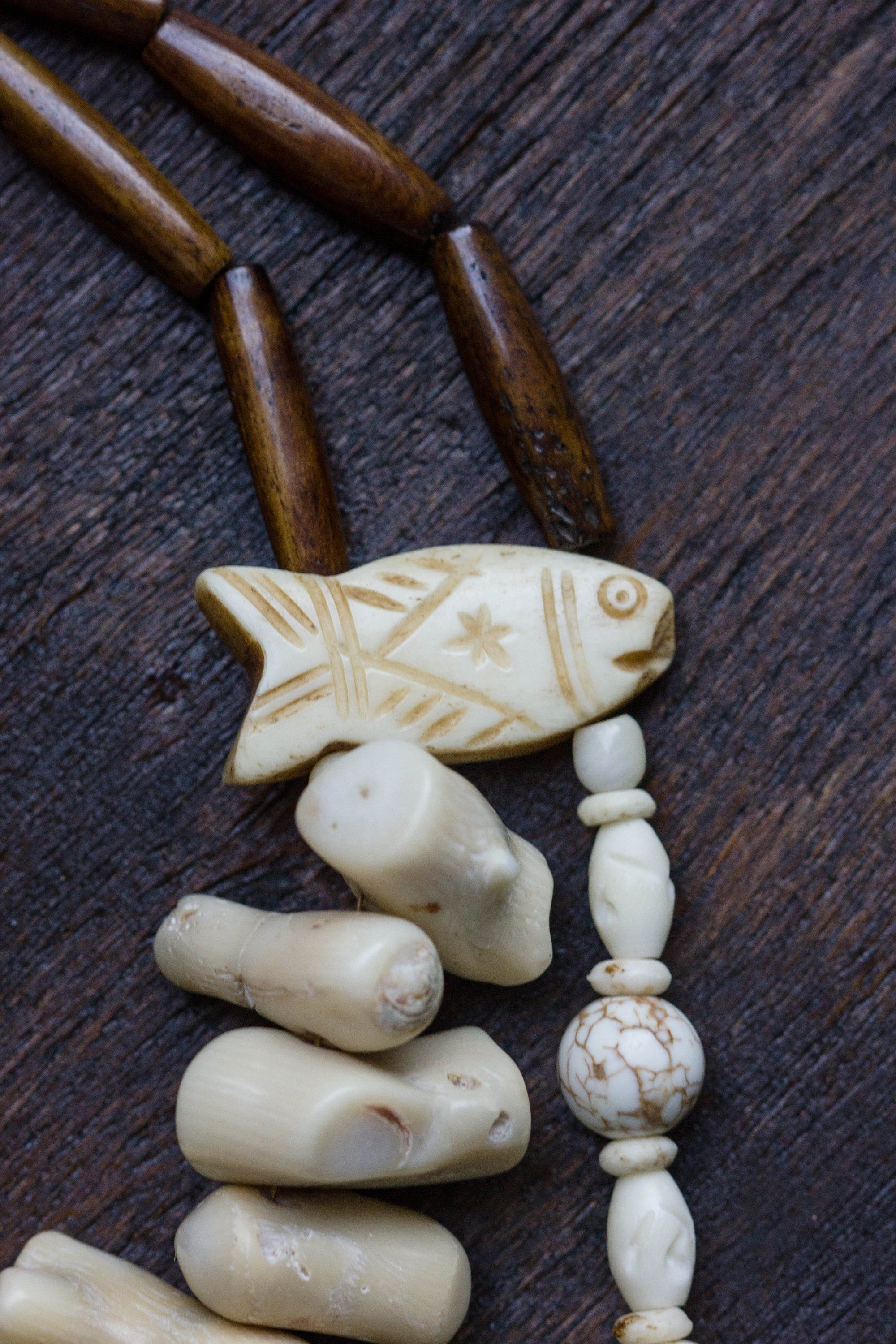 Native America Powwow Regalia Tribal Necklace With Carved Bone First Nation Jewelry Earthy Necklace Powwow Regalia Regalia