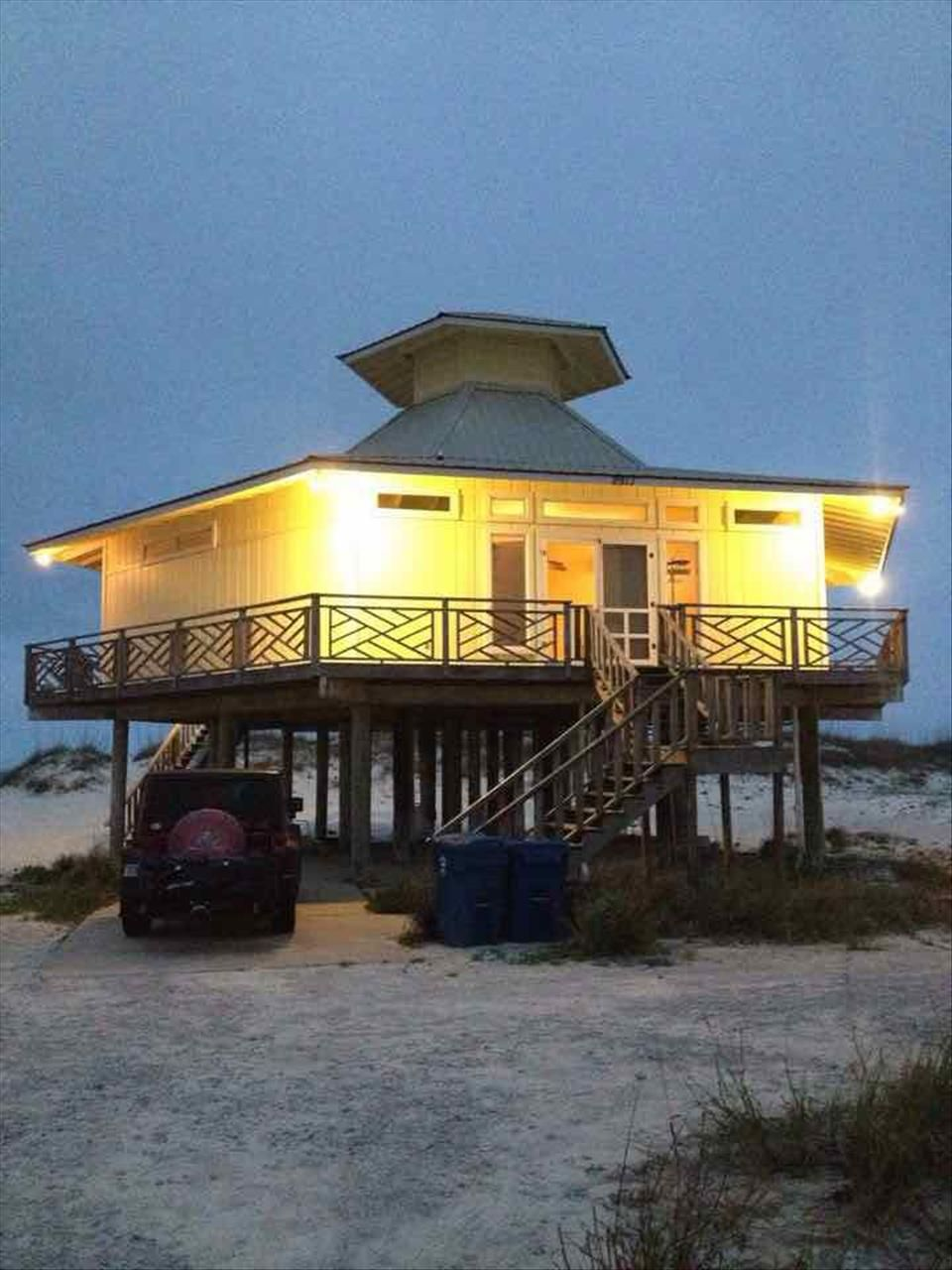 The Birdcage At Night. Come Visit Our Beautiful Gulf