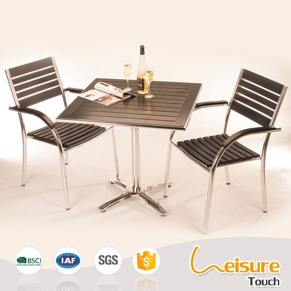 modern and new design dinning furniture aluminum cafe chairs and