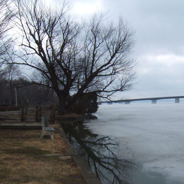 Bemus Point, NY, In The Offseason. Chautauqua Lake Bridge