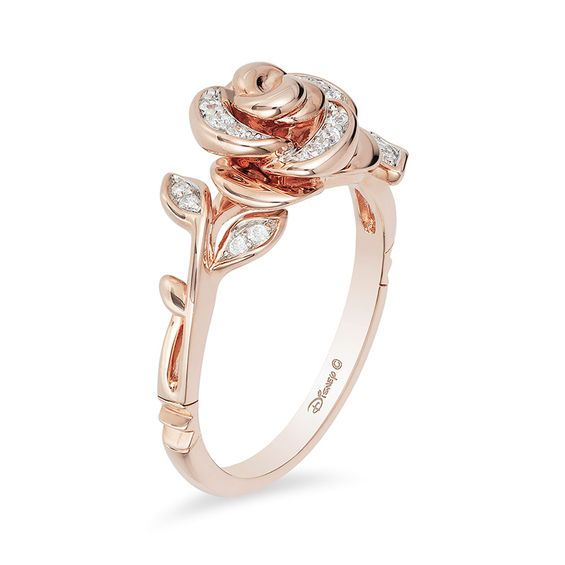 T W Diamond Rose Ring In 10k Gold Zales
