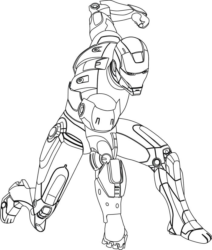 Step 8 : Drawing Iron Man in Easy Steps Lesson