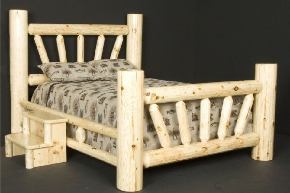 Log Beds Queen Size In 2020 With Images Rustic Bedroom