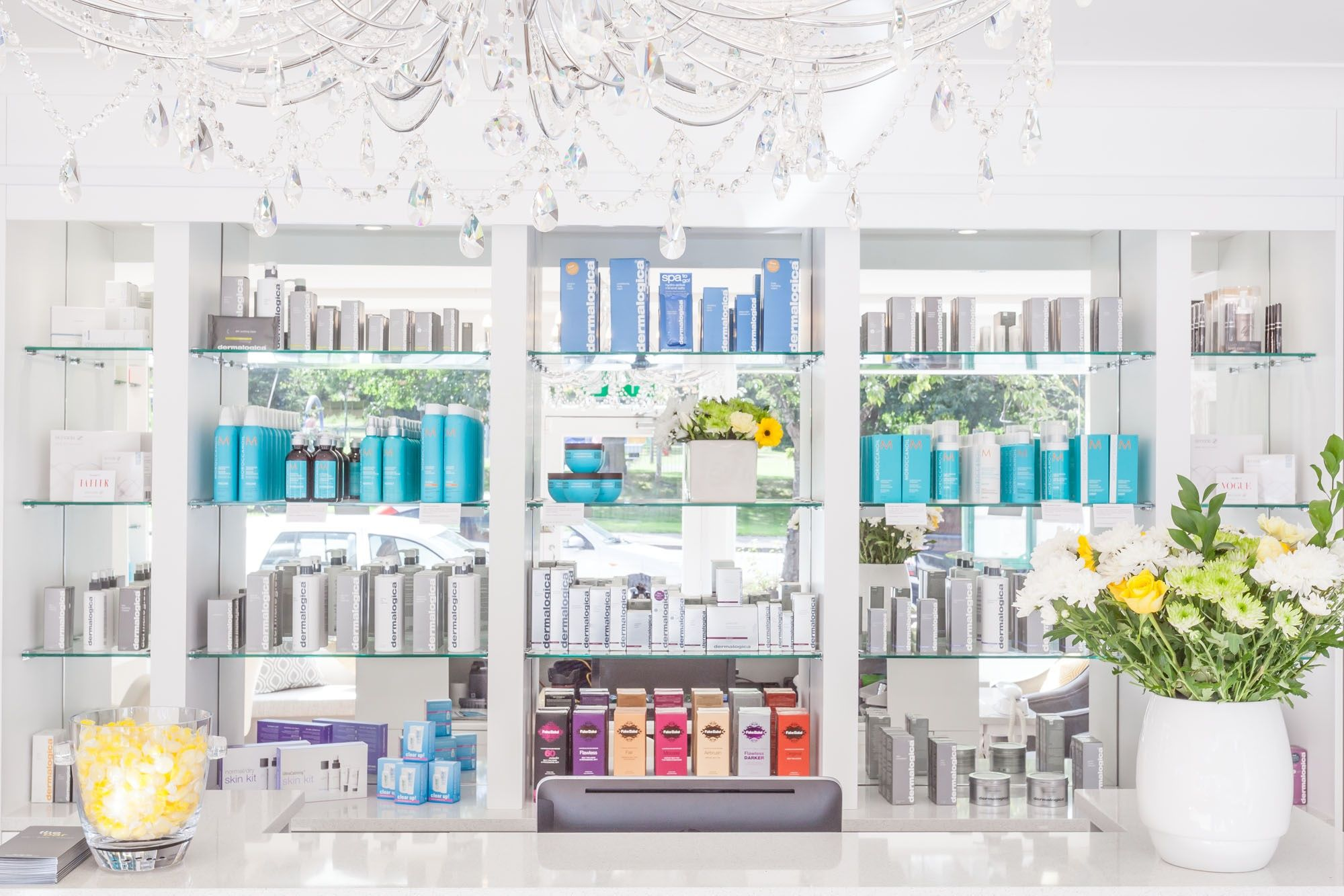 The Luxury Salon interior at The Bar, Chigwell. An approved Moroccan Oil, Dermalogica, Shrinking Violet Body Wrap and Lash Perfect salon.