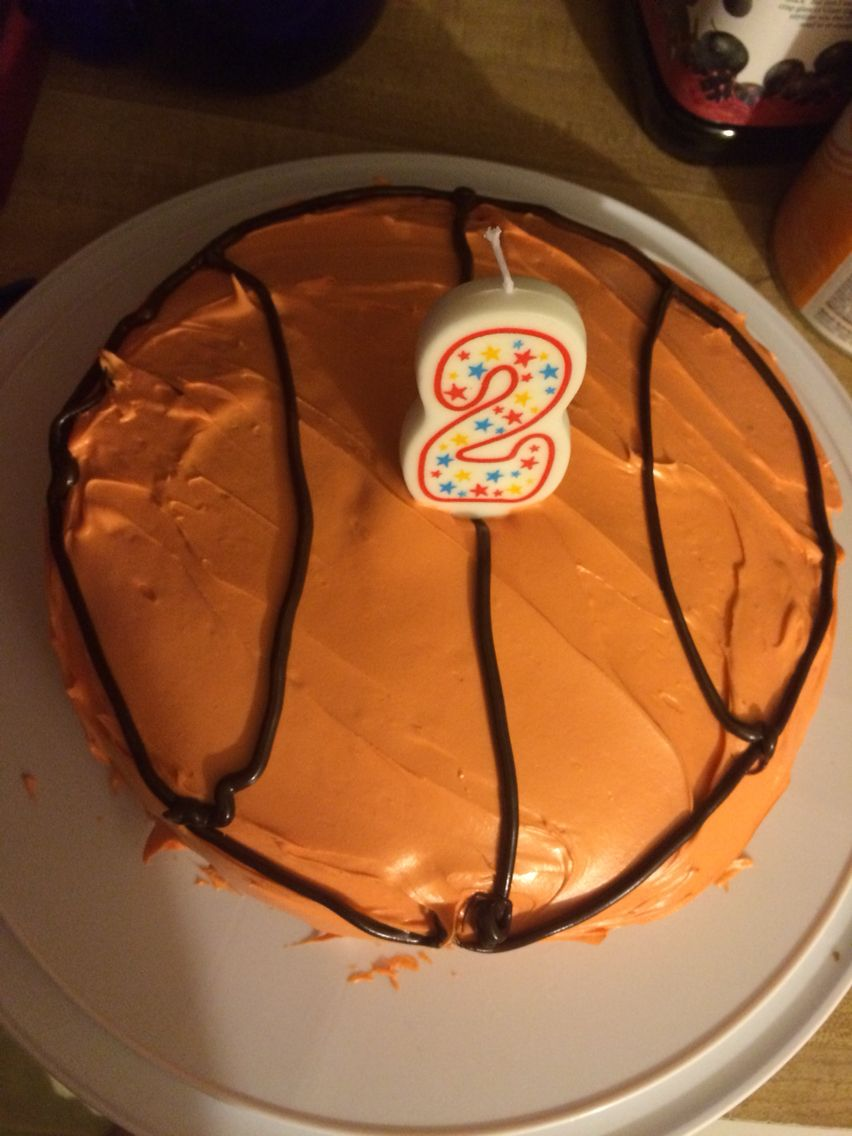 9 inch round cake. Orange frosting using red and yellow food ...