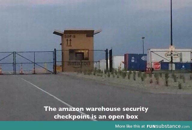 Cool Amazon security checkpoint | Shits & Giggles | Funny