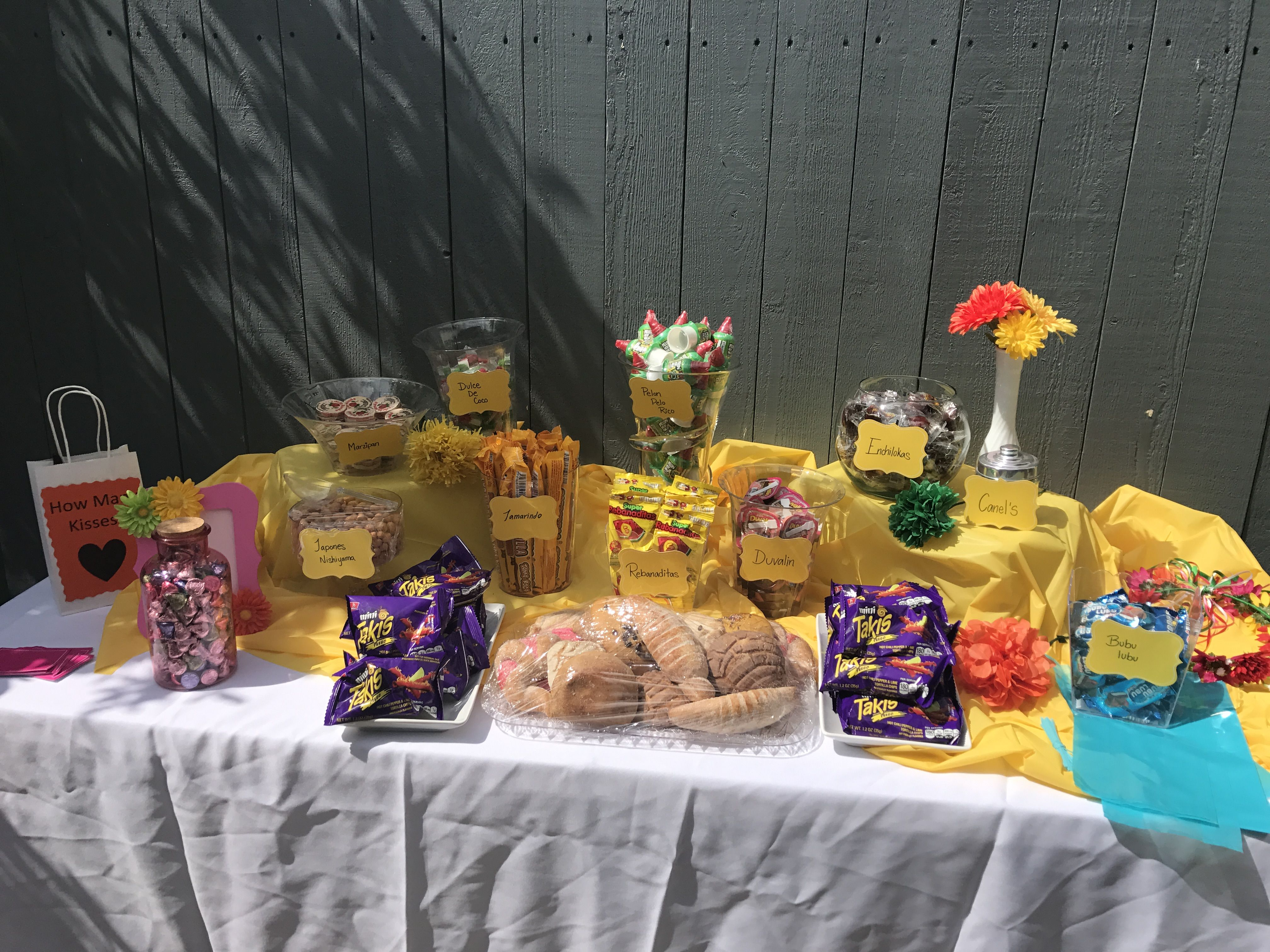 Mexican candy table Mexican candy pan dulce bridal shower